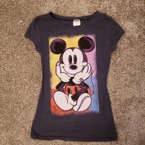 Disney Mickey Mouse Junior's Fitted T-shirt